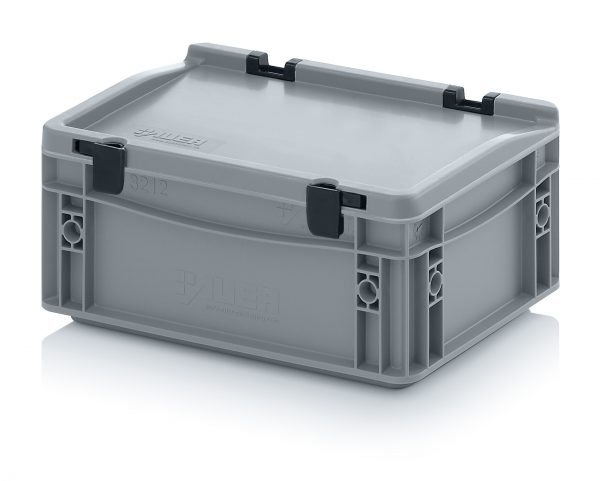 eh3120c Euro Stacking - Hinged Lid - Plastic Mouldings Northern