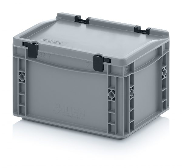 eh3170c Euro Stacking - Hinged Lid - Plastic Mouldings Northern