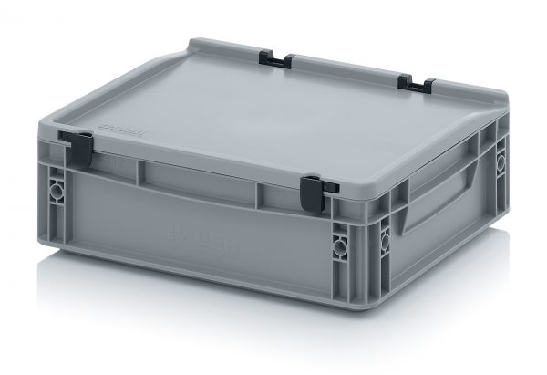 eh4120c Euro Stacking - Hinged Lid - Plastic Mouldings Northern