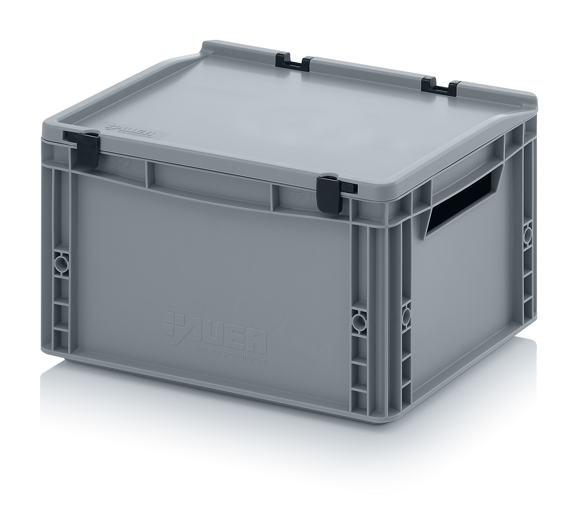 eh4220 Euro Stacking - Hinged Lid - Plastic Mouldings Northern