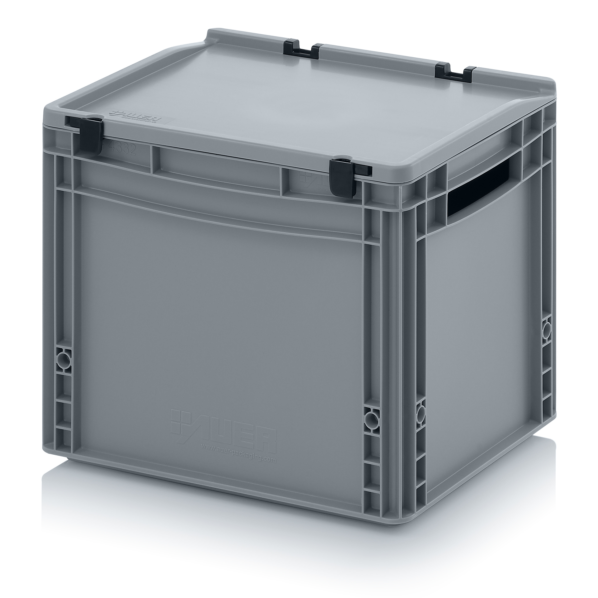 eh4320 Euro Stacking - Hinged Lid - Plastic Mouldings Northern
