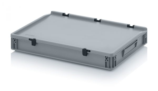 eh6075c Euro Stacking - Hinged Lid - Plastic Mouldings Northern