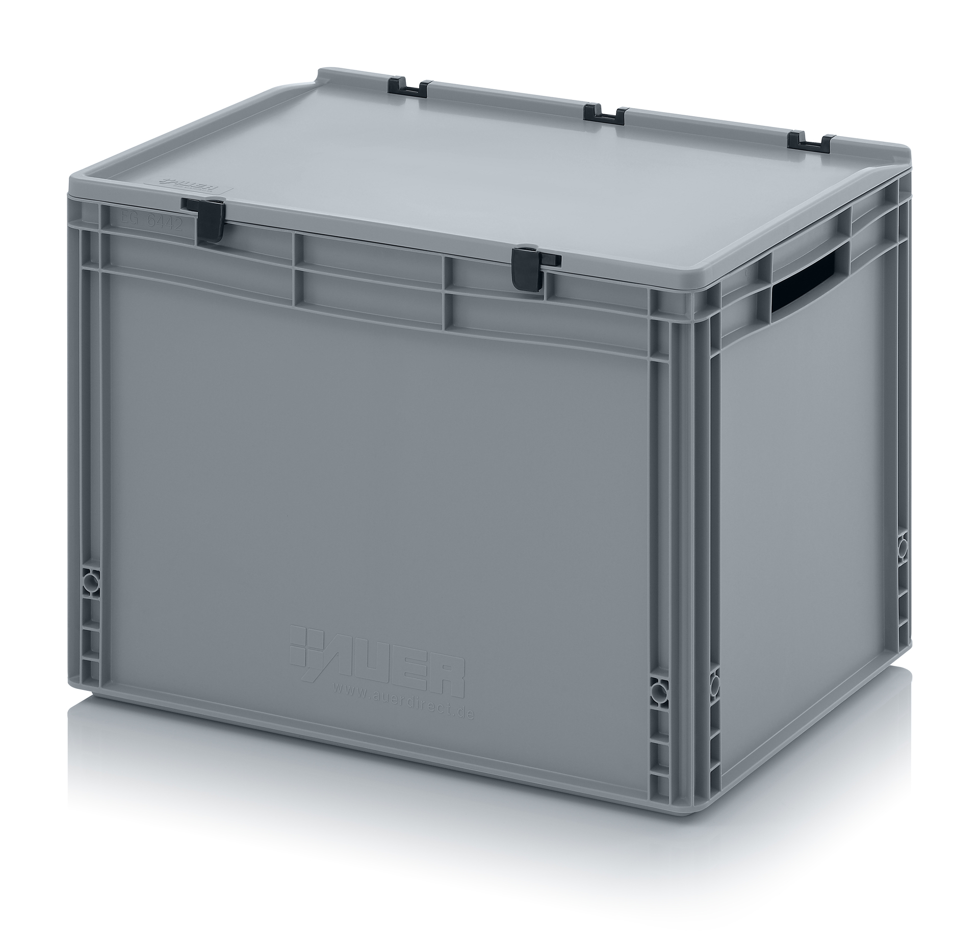eh6420 Euro Stacking - Hinged Lid - Plastic Mouldings Northern