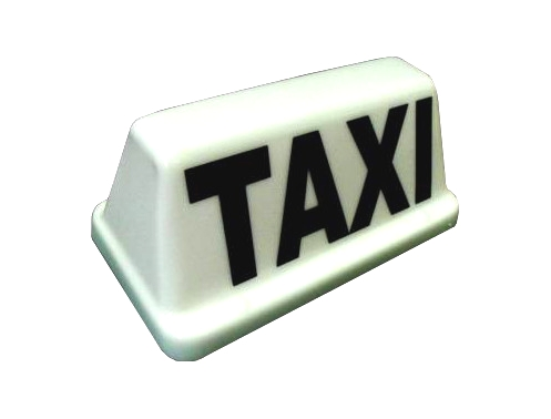 """taxi-sign-10-white 10"""" LED Magnetic Taxi Sign - White or Yellow - Plastic Mouldings Northern"""