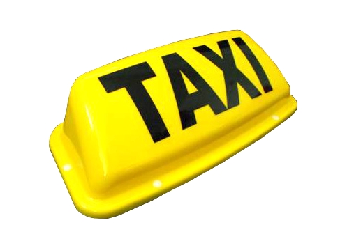 """taxi-sign-19-aero-yellow 24"""" LED Aerodynamic Magnetic Taxi Sign - White or Yellow - Plastic Mouldings Northern"""