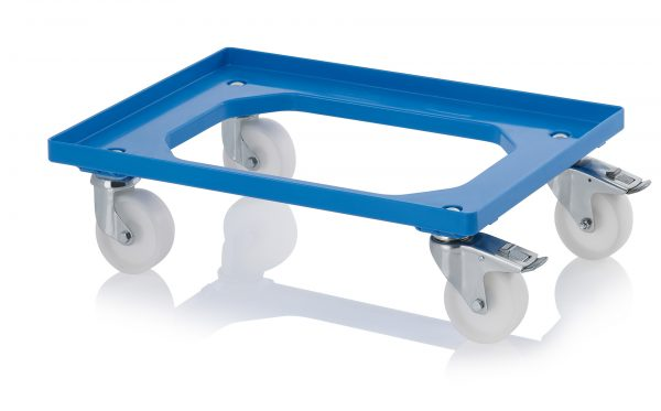 DL6040PB_Blue-600x373 600 x 400 Dolly <br/>(Plastic with wheel stop) <br/>DL6040PB - Plastic Mouldings Northern