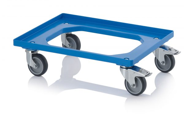 DL6040RB_Blue-600x373 600 x 400 Dolly <br/>(Rubber with wheel stop) <br/>DL6040RB - Plastic Mouldings Northern