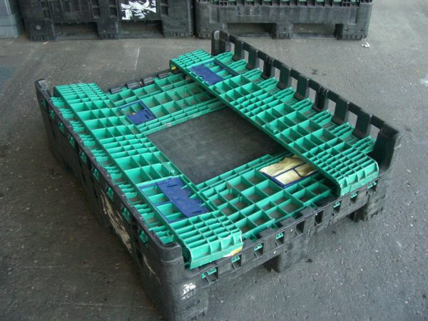 Magnum-K595-1200x1000x595-1 Pallet Box - Folding - Plastic Mouldings Northern