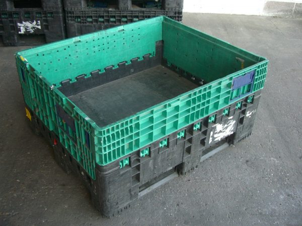 Magnum-K595-1200x1000x595-2 Pallet Box - Folding - Plastic Mouldings Northern