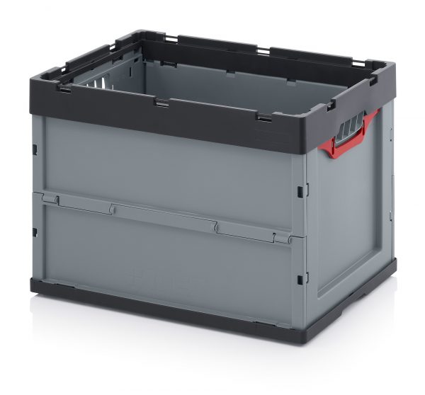 FEU6420-600x558 Folding Euro Containers - Plastic Mouldings Northern