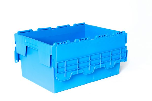 CSS-ALC43-Blue Attached Lid Containers - Plastic Mouldings Northern