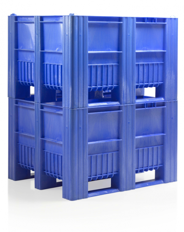 CB3_Blue2 Pallet Box - Solid - Plastic Mouldings Northern