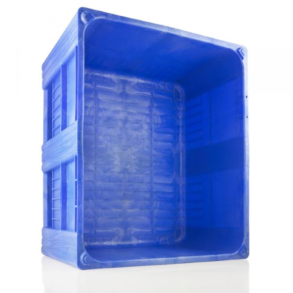 CB3_Blue3 Pallet Box - Solid - Plastic Mouldings Northern