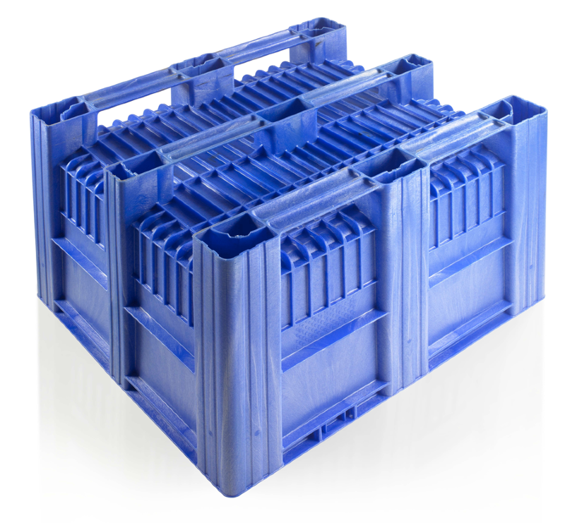 CB3_Blue4 Pallet Box - Solid - Plastic Mouldings Northern