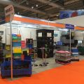 Plastic Mouldings Northern displaying their returnable packaging at IMHX2019